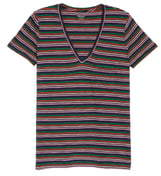 Madewell Whisper Cotton Stripe V-Neck Pocket Tee