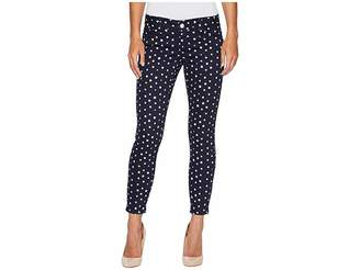 U.S. Polo Assn. Skinny Ankle Brit Stretch Denim Jeans in All Night/Polka Dot Women's Jeans