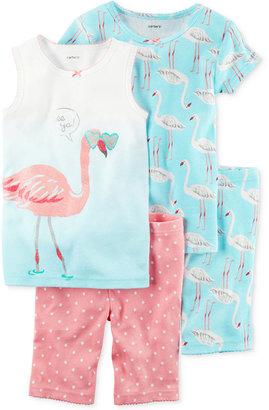 Carter's 4-Pc. Flamingo Cotton Pajama Set, Toddler Girls (2T-5T) $34 thestylecure.com