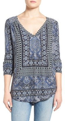 Women's Lucky Brand Border Print Top $59.50 thestylecure.com