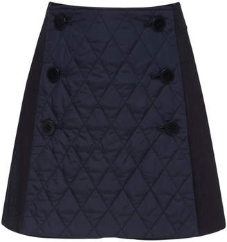Tibi Quilted Denim Mini Skort