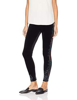3J Workshop by Johnny Was Women's Embroidered Stretch Velvet Legging