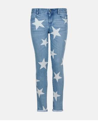 Stella McCartney Skinny Boyfriend Fringed Stars Jeans
