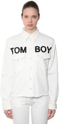 Filles a papa Tomboy Cotton Denim Shirt