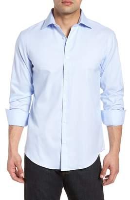 Bugatchi Shaped Fit Textured Dress Shirt