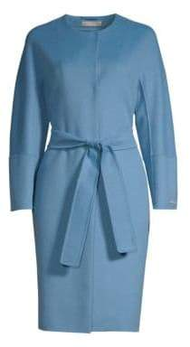 Max Mara Aristo Virgin Wool& Angora Belted Wrap Coat
