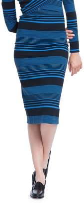 Plenty by Tracy Reese Women's Variated Stripe Knit Skinny Knee-Length Skirt