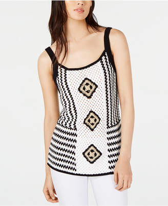 INC International Concepts Inc Crocheted Sleeveless Top