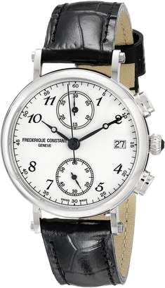 Frederique Constant Women's FC291A2R6 Classics Stainless Steel Watch with Brown Leather Band