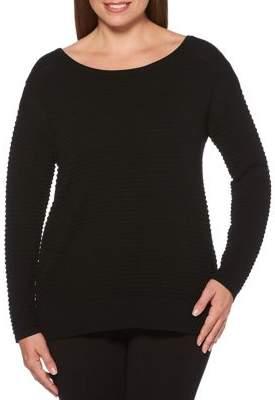 Rafaella Rib Knit Crewneck Sweater