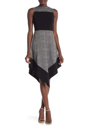 Amelia Asymmetrical Houndstooth Dress