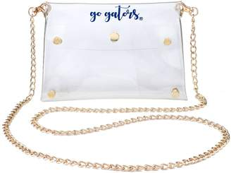 clear Unbranded Women's Florida Gators Gold Chain Crossbody Purse