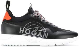 Hogan printed logo sneakers