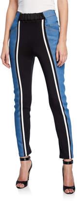 Besfxxk Jersey Panel Skinny-Leg Jeans