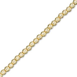 "Zales Made in Italy Diamond-Cut Bead Bracelet in 14K Gold - 8.0"""