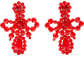 Simone Rocha Crystal Earrings - Red