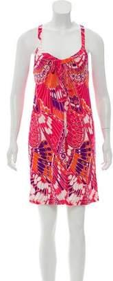 Tibi Sleeveless Floral Print Dress