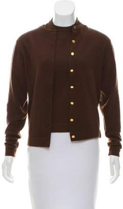 Hermes Cashmere Button-Up Cardigan Set