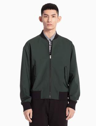 Calvin Klein cotton stretch woven bomber jacket
