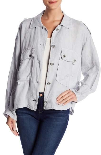 Baci & Amici Button Down Linen Jacket