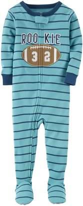 Carter's Boys' 12 Months-4T Rookie Football One Piece Pajamas