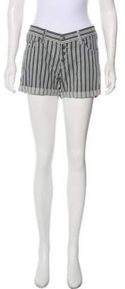 Anine Bing Striped Mini Shorts
