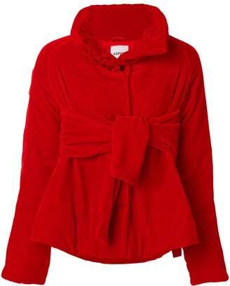 Aspesi velvet belted puffer jacket