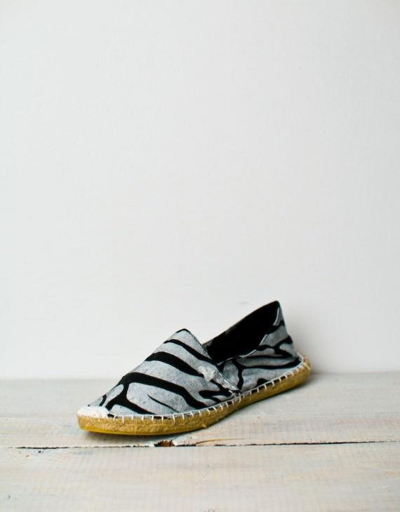 Rubber Duck Zebra Espadrille