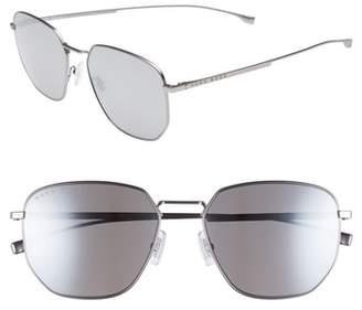 BOSS Special Fit 58mm Polarized Titanium Aviator Sunglasses