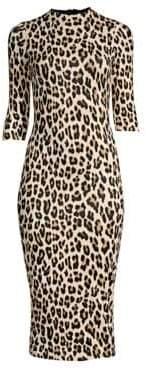Alice + Olivia Delora Leopard Bodycon Dress