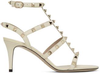 Valentino Off-White Garavani Rockstud Cage Sandals