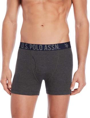 U.S. Polo Assn. 3-Pack Logo Waist Boxer Briefs