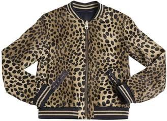 Little Marc Jacobs Reversible Satin Bomber Jacket