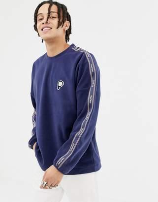 Penfield Arcus Bear logo fleece sweatshirt side taping in navy