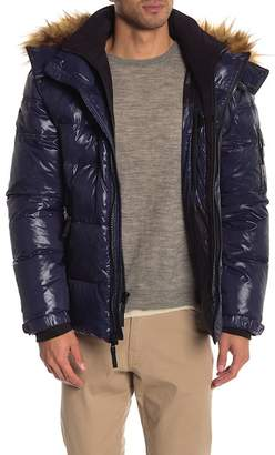 SAM. S13\u002FNYC Downhill Faux Fur Lined Hood Quilted Coat