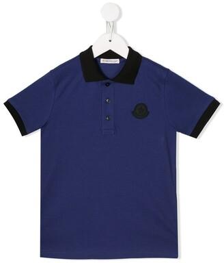 Moncler contrast logo polo shirt
