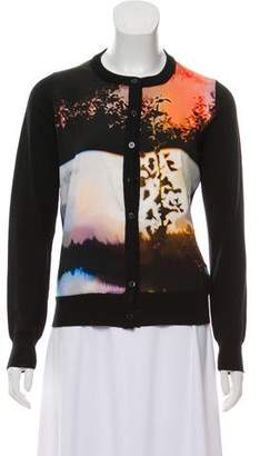 Mary Katrantzou Wool Graphic-Paneled Cardigan