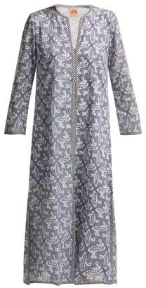 Le Sirenuse Le Sirenuse, Positano - Vanessa Moleculay Print Cotton Kaftan - Womens - Blue Print