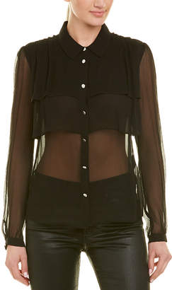 The Kooples Chiffon Silk Shirt