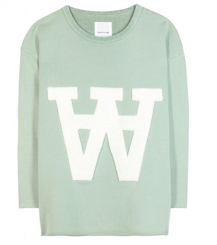 Wood Wood Hope terry-appliquéd jersey sweatshirt