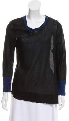 Marc Jacobs Cashmere Paneled Top