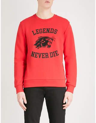 The Kooples Panther-motif cotton-jersey sweatshirt