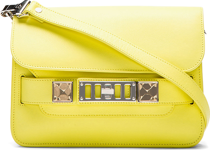 Proenza Schouler Lemon Yellow PS11 Mini Classic Leather Shoulder Bag