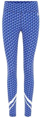 Tory Sport Printed chevron leggings