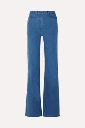 Joseph Cotton-chambray Wide-leg Pants - Indigo