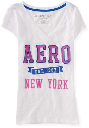 Aeropostale Womens New York Embellished T-Shirt S