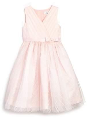 Us Angels Girls' Tulle Overlay Ballerina Flower Girl Dress - Little Kid