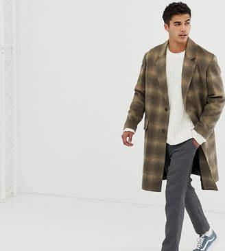 Noak wool overcoat in camel check