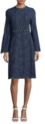 BCBGMAXAZRIA Long Sleeve Cotton Dress