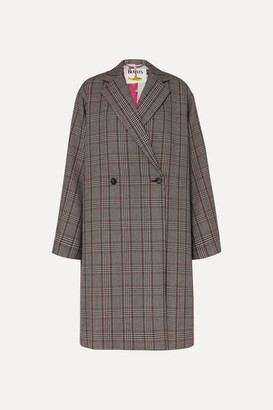 Stella McCartney The Beatles Oversized Prince Of Wales Checked Wool Coat - Black